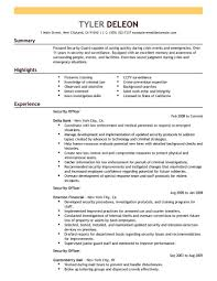 Resume For Security Guard | Resume Work Template