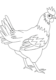 Free Printable Chicken Coloring Pages Hen Mask Template Crevisco