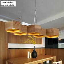 wooden chandeliers lighting. l70cm 5 lights chinese style honeycomb wooden chandeliers art creative contracted restaurant rural solid wood pendant lighting
