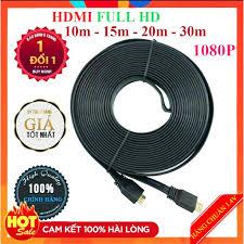 Dây Cáp HDMI 10m 15m 20m 30m dẹt đen-Dây cáp kết nối cổng HDMI 2 đầu tốt  chống nhiễu xịn chất lượng cao giá rẻ giá cạnh tranh