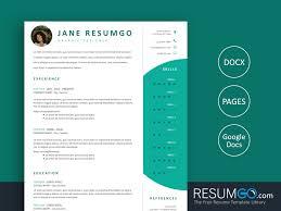 Modern Column Resume Damokles Modern And Professional Resume Template Resumgo Com
