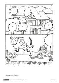 Bauernhof Kuh Malen Mit Zahlen Illustratoren Für Flüchtlinge