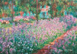 office art jardin a giverny famous claude monet paintings hand painted high quality in painting calligraphy from home garden on aliexpress com alibaba