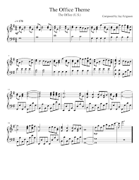 The Office Theme Sheet Music For Piano Download Free In Pdf