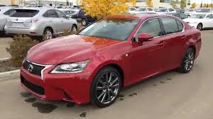 lexus 2014 is 350 red. lexus certified pre owned red 2014 gs 350 awd f sport package review fort saskatchewan ab is