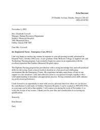 new grad nurse cover letter example nursing cover letters d87cafac