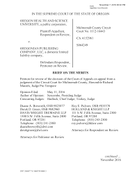IN THE SUPREME COURT OF THE STATE OF OREGON OREGON HEALTH AND SCIENCE  UNIVERSITY, a public corporation, Plaintiff-Appellant, Res