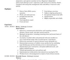 waitressing cv cv examples waitress under fontanacountryinn com