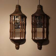 pair of 1920s 40s wall lights with mirror backs