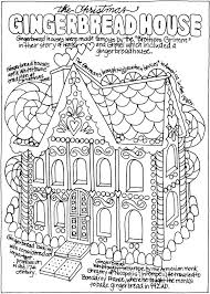 Different houses of a village. Gingerbread House Coloring Pages Coloring Rocks