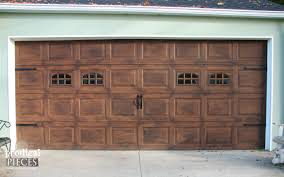 Faux Garage Door Hardware Remodelaholic Faux Wood Carriage Garage Door Tutorial