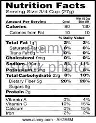 cereal box nutrition facts. Simple Nutrition The Nutrition Label From A Cereal Box Emphasizing That Product Intended  For Throughout Facts T