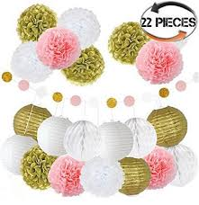 Paper Flower Kit Us 19 99 Tissue Paper Flower Kit 22 Pcs Pretty Party Supplies Easy To Decorate Elegant Flower Ball Pendant Pompoms Wedding Decoration In Party