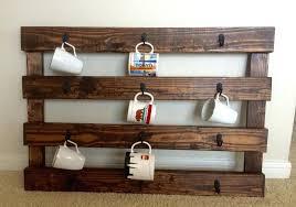wood coffee mug rack expanding beechwood wall