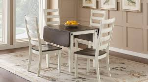 velino white 5 pc rectangle dining set
