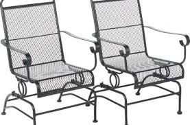 metal mesh patio furniture. Amazon Com Outdoor Steel Mesh Patio Rocking Chair Set Garden Awesome Metal Chairs Intended For 4 Furniture E