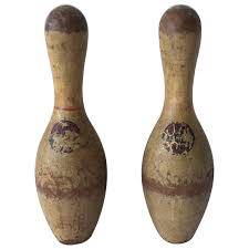 Antique Wooden Bowling Game Antique Wooden Bowling Pins Pair at 100stdibs 15