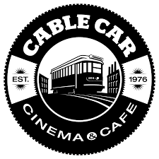 car logo black and white. cable car cinema and cafe your neighborhood art house theatre providence rhode island logo black white