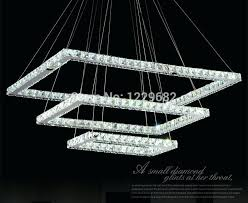 square crystal chandelier cascade light chrome finish