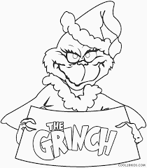 The best free, printable christmas coloring pages! Free Printable Grinch Coloring Pages For Kids