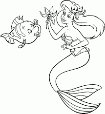 Coloriage Princesse Ariel Coloriages Store