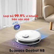 𝑺𝒊𝒆̂𝒖 𝑷𝒉𝒂̂̉𝒎 Robot Lau Nhà Thương Hiệu Ecovacs Deebot N8, Khử Khuẩn  Sạch Sẽ An Toàn Bảo Vệ Sức Khỏe, Giadunghome.com giá cạnh tranh