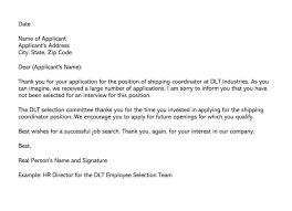 Resume Rejection Letter Job Candidate Rejection Letter 36 Sample Letters Templates