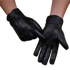 guantes men s leather gloves winter thicken keep warm outdoor driving glove men sport tactical gloves fur mittens black jo