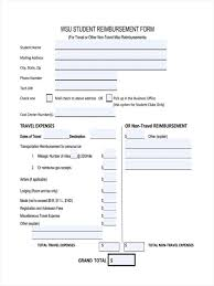 gas reimbursement form 6 student reimbursement form samples free sample example format