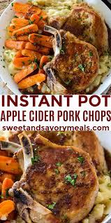 instant pot pork chops in apple cider