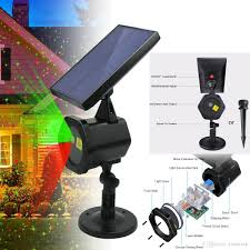 Solar Projector Christmas Lights 2019 Solar Laser Light Landscape Projector Laser Beams Christmas Holiday Lights Illuminate For Pool Area Party Hall Dj Indoor Outdoor Light Show From