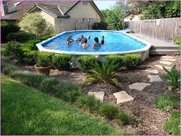 Avoid places in the yard with. Amazing Above Ground Pool Ideas And Design Deck Ideas Landscaping Hacks Toy Pool Landscape Design Above Ground Pool Landscaping Best Above Ground Pool