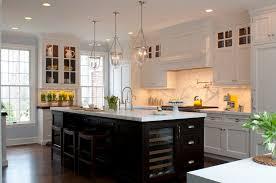 kitchen white cabinets dark island photo 6