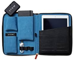 this leather tech case is a premium way to transport your tablet