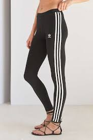 adidas leggings. slide view: 2: adidas originals 3 stripe black leggings