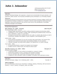 Download Resume Template Word Resume Template 1 Free Download
