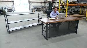 industrial office desks. Buy A Handmade The Industrial Office Desk Made To Order Desks N