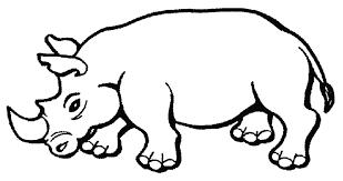 Disegno Di Rinoceronte Da Colorare Per Bambini