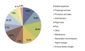 Airline Fee Chart Operating Expenses Of The Airline Industry A Pie Chart