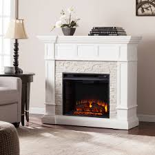 45 50 merrimack corner convertible electric fireplace white faux stone