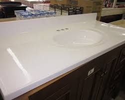 white cultured marble countertops