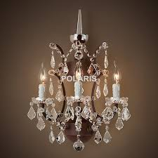 wall chandelier wall sconce lamp light modern art decor vintage crystal chandelier wall lighting for home