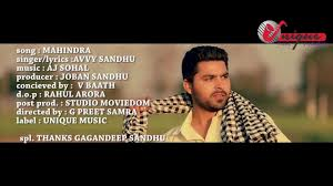 avvy sandhu mahindra latest punjabi song