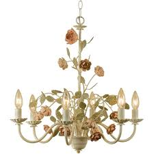 af lighting ramblin rose 6 light cream chandelier