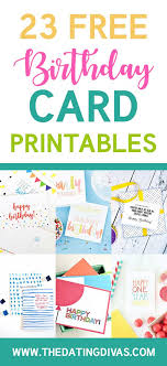 Free Downloadable Birthday Cards 101 Free Birthday Printables Free Printables Pinterest