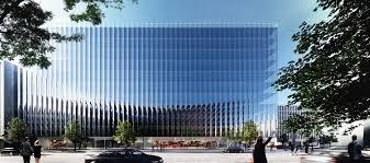 office facade. rex unveils a fluted glass office building in washington dc facade d
