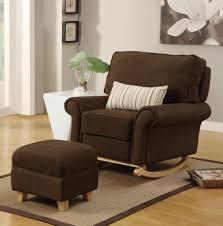 brown rocking sofa chair nursery
