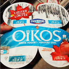 danone oikos greek yogurt maple syrup canada