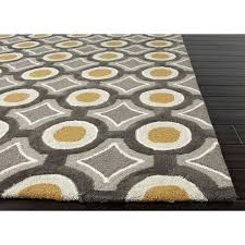 Yellow Shag Area Rug Area Rugs Yellow Circle Rug Yellow Gray Area
