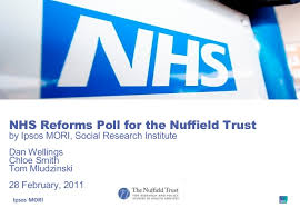 NHS Reforms Poll for the Nuffield Trust by Ipsos MORI